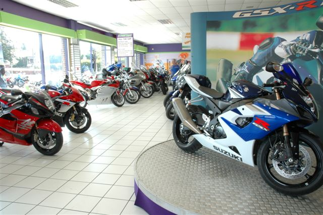 Picture of motorcycle showroom