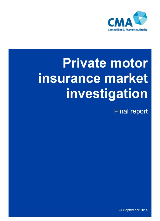 Private Motor Insurance Market Investigation